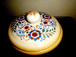 Art deco Zsolnay porcelánfajansz doboz 18 cm