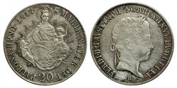V.Ferdinánd 20 krajcár 1847 B.