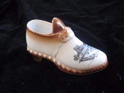 Royal Coppenhága  Porcelán  cipő  GEMMA  jelzéssel  13cm ,budapesti látképpel