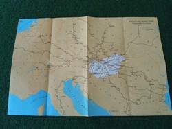 MÁV közvetlen nemzetközi összekötetések térkép, Máv nemzetközi térkép 1987