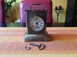 Asztali antik óra tökéletesen működő szerkezettel