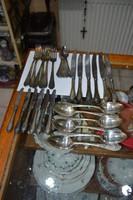 6 személyes szovjet ezüstözött evőeszkőz készlet