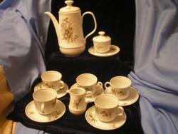 5 sz 13 db-os virágos hibátlan kávés / teás szett