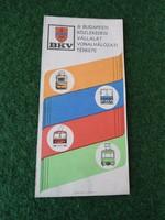 Budapest Közlekedés Vállalat Vonalhálózati térképe 1989, BKV vonalhálózati térkép 1989