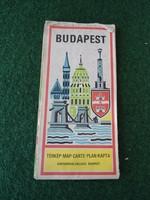 Budapest térkép 1979 Kartográfiai Vállalat