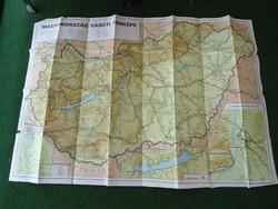 Magyarország Vasúti Térképe 1994, MÁV vonalhálózati térkép 1994