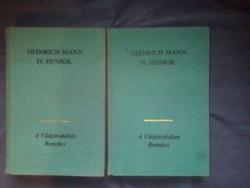 Eladó règi világirodalmi könyv 2db Heinrich Mann 4.henrik 1rész.2.rész.