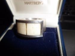 Formatervezett Kikko ezüst gyűrű