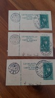 Levelezőlap felső rész bélyegzéssel