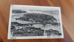 Budapest Képeslap Margitsziget 1941 Nem futott..