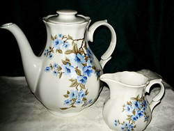 Meseszép porcelán teás kanna, kancsó, plussz  gyönyörű kiöntő