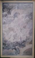 Nagyméretű Sebestyén János festmény 120*70 cm