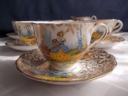 Colclough teás csésze 6sz antik,ritkaság