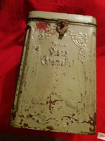 Antik cc. 1890 Hartwig & Vogel  Diana karamellás fémdoboz a képek szerint  27 X 17 X 17 cm