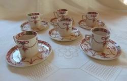 Antik angol fajansz kávés készlet  /  1166
