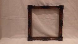 Üvegezett antik blondel képkeret falc 23x23 cm