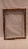Régi üvegezett arany - fa képkeret falc 34x24 cm