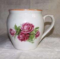 Zsolnay rózsás csupor  nagyméretű