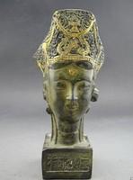 Kuan-yin Buddha ritka bronz szobra