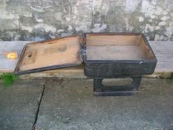 Régi autóbusz díjbeszedő doboz, pénzes kazetta