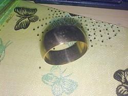 KIÁRUSÍTÁS!Gold Filled Széles Karika Gyűrű