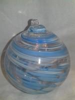 Színes márványos nehéz üveggömb