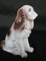 Hollóházi porcelán spániel kutya 15 cm