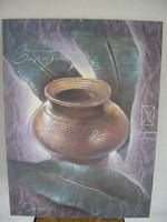 Vázás vászon kép