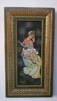 Perzsa festmény, lírai jelenettel