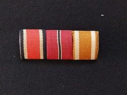 II.vh Német szalag sáv vaskereszt - ostmedál atlanti fal ,mini ,kitűző