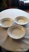 6 db régi Zsolnay porcelán mély tányér