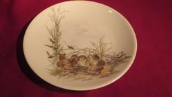 KI09 Gyönyörű madárfiókás fali tányér Bavaria 19 cm
