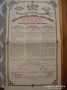 Záloglevél 1911-ből Felülbélyegzés látható rajta.