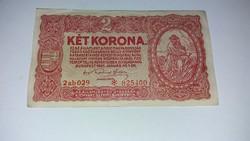 2 korona 1920 -as,csillagos , nagyon szép ropogós  bankjegy!