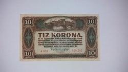 10 korona 1920 -as  szép ropogós  bankjegy!