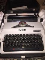 Régi Erika írógép,új,bőröndel papírjaival