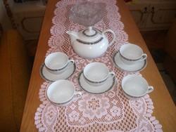 Alföldi porcelán teás csésze + alj + ajándék kanna