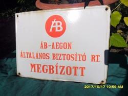 ÁB-AEGON BIZTOSÍTÓ Zománc tábla