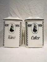 2db nagy Gránit kerámia fűszertartó kávé cukor