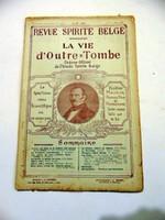 REVUE SPIRITE BELGA LA VIE d'Outre-Tombe1925május8RÉGI ÚJSÁG947