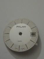Poljot quartz számlap, 26 mm