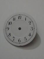 Porcelán bevonatos óra számlap, 25,5 mm