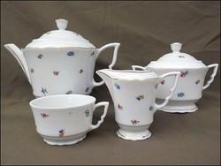 Régi virágos  Zsolnay teás készlet maradék