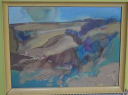 Szekeres Emil 60 cm X 80 cm + keret olaj, vászon