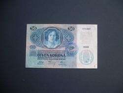 50 korona 1914 + Felülbélyegzés !!!