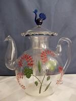 Üveg Ritkaság...madaras teaforrázó gyűjteménybe