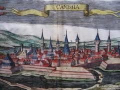 """Nagykanizsa """"Canisha"""" (Jacob Kopp-mayer)  rézmetszet  1684"""