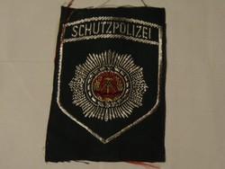 Német rendőrségi egyenruha felvarró