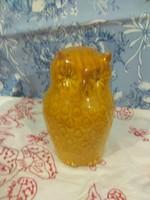 Porcelán bagoly  sárga