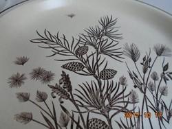 """Grindley-""""Pinwood""""(=Fenyőfa) mintával-angol tál-25,8 cm (1)"""